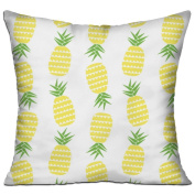 Pineapple Square Stuffed 18 X 18 Accent Pillow