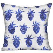 Strawberries Square Stuffed 18 X 18 Accent Pillow