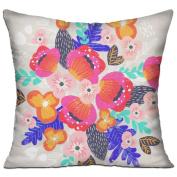 Centre Florals Square Stuffed 18 X 18 Accent Pillow