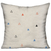 Triangle Square Stuffed 18 X 18 Accent Pillow