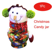 YOOKOON Christmas Candy Jar Elk Santa Claus Snowman Small Gifts Container Bottle Jar Decorations 25cm x10cm