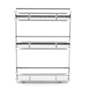 Ahui Spice Ja Canned Food Condiments Racks Shelf Storage 304 Stainless Steel 3 Tier Kitchen Bathroom Cooking and Dining