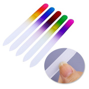 5pcs Gradient Crystal Nail Files Double-Sided Grinding Manicure Nail Art Tools