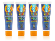 EAD Kids Sunscreen SPF 50 Lotion, Water Resistant Travel Size, 88 ml - Pack of 4