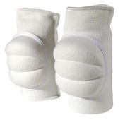 CSI Cannon Sports Pro Series Volleyball Knee Pads, White, Adult