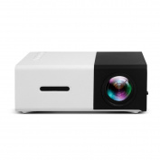 BHUE Video Projector YG300 Home Micro Projector Mini LED HD 1080P Movie Games Outside Mini Projector,OneColor