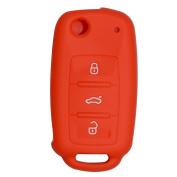 Happyit Car Key Cover Case Silicone for Volkswagen VW Polo Passat B5 Golf 4 5 6 Jetta Mk6 Tiguan Gol CrossFox Plus Eos Scirocco Beetle