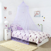Princess Bed Canopy - Beautiful Butterfly Childrens Bed Canopy in Lilac - Quick and Easy To Hang Girls Bedroom Accessories - Perfect Gift for Girls, Daughters and Granddaughters