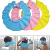 Soft Baby Kids Children Shampoo Bath Shower Cap Hat Wash Hair Shield 3 Colour