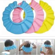 Soft Baby Kids Children Shampoo Bath Shower Cap Hat Wash Hair Shield 3 Colour