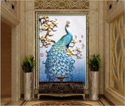 Faraway Peacock 5D DIY Crystal Diamond Rhinestone Painting Pasted Paint By Number Kits animal FULL diamond mosaic 40x60cm