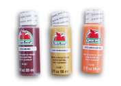Apple Barrel Fall Themed Acrylic Paint Set - Barn Red, Golden Sunset, and Jack-o-Lantern