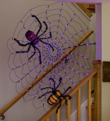 Indoor Outdoor LED Lighted Halloween Spiderweb Decoration 39 Dia