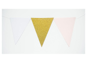 ALL in ONE 3m Vintage Style Hanging Triangle Flag Bunting Banner for Wedding Birthday Baby Shower Party Holiday Event Home Decoration