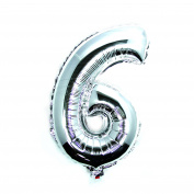 "Foil Balloons, Gold and Silver, 34"" Numbers 0 to 9, Wedding Birthday Holiday Party Decoration Party Balloons"