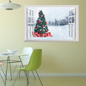 Home Wall Decal,Nesee Christmas Holiday Window Modelling Decoration 3D Wall Stickers
