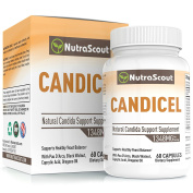 Candicel Candida Cleanse Supplement With Caprylic Acid, Neem, Pau D'Arco, Oregano, Grapeseed, Black Walnut & Clove To Combat Yeast & Candida Overgrowth – Non GMO – 60 Vegetable Capsules