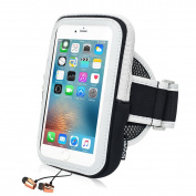 Running Armband Phone Holder, ieGeek Sweatproof Sports Armband Doule Bags for iPhone 7 Plus/6 Plus/6 Plus, for Samsung Galaxy S7/S6/S5, HTC, Sony Xperia, BlackBerry, Huawei Smartphones Up to 14cm - Touch Screen/ Reflective Stripe/ Earphone Hole/ Long Adju