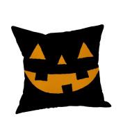 "Gallity Square Halloween Pillow Cases Linen Sofa Pumpkin ghosts Cushion Cover Home Decor 18""x18"" (45cm45cm)"