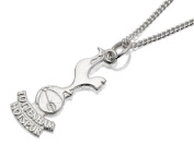 Tottenham Hotspur Mens Jewellery Sterling Silver Cockerel Crest Pendant & Chain
