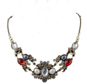 Vincenza Ladies Colourful Chunky Style Jewel Statement Crystal Bib Choker Collar Necklace