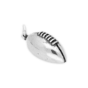 TheCharmWorks Sterling Silver Rugby Ball Charm