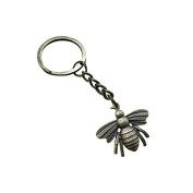 large Bee keychain, Honeybee keychain, Bee pendant keychain, Bee Charm Keychain