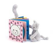 Jellycat If I Were a Kitty Board Book and Bashful Grey Kitty, Medium - 30cm