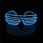 Aquat Light up Electroluminescent EL Wire LED Glasses Shutter Shades Voice Activated Eyeglasses RB02