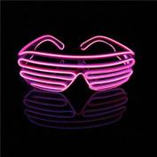 Aquat Light-up Illuminated Neon Electroluminescent EL Wire LED Glasses Light Shutter Frame Costumes Glasses Eyeglasses RB02