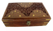 Indian Handicraft Wooden Hand Made Jewellery Box Large 1pcs Size:- (Inche)8x5x2.5