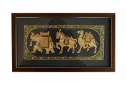 Indian Hand Made Exclusive hand Painting On paper Size:- (Inche)13x6.75 with frame