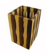 Wooden Hand Made Carved Pen Stand Mix Design 2pcs Size:- (Inche)4x2.5x2.5