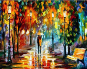DIY 5D Diamond Painting by Number Kits, Full Drill Crystal Rhinestone Diamond Embroidery Paintings Pictures Arts Craft for Home Wall Decor, Rain Lovers