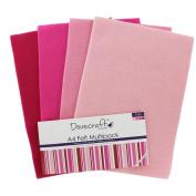 Pink A4 Felt Sheets - Pack Of 8
