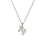 Gluckliy Women Girls Unicorn Pendant Alloy Chain Necklace Jewellery Accessories Gift, Silver Colour