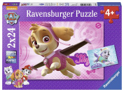 Ravensburger 9152 Paw Patrol Skye and Everest Jigsaw Puzzles - 2 x 24 Pieces