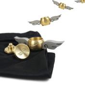 Tornado Fidget Spinner - Golden ball v2 - Brass Paper Weight - Angel Orb - Stress Relief Spinner for Adults and Children