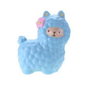 VLAMPO Squishy Stress Toys Squishies Soft Slow Rising Scented Alpaca 17cm