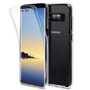for Samsung Galaxy Note 8 Front And Back Gel Case, [Drop Protection] [Shock Absorption Technology] [Shock Resistant Protective]Galaxy Note 4 full protection case, iPro Accessories® Galaxy Note 8 360 Protection Case, Transparent Full body Protection Clear