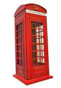 London Telephone Box Money Box - Red Diecast Money Bank / British Phone Booth Piggy Bank / United Kingdom Coin Saver / Savings Storage / Great Britain UK Souvenir / For Children and Adults of All Ages