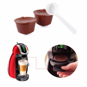 2 Pcs Refillable Dolce Gusto Coffee Capsules Nescafe Dolce Gusto Reusable Capsule Refill With 1 Spoon
