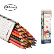 Coloured Pencils Watercolour Colouring Pencils 36 Art Supplies Premium Drawing Pencil set for Adults Colouring Book by US Sense