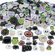 Joyin Toy 500 Pieces Halloween Foam Craft Stickers Assortment Halloween Scrapbook Stickers Self Adhesive Shapes for Halloween Craft Supplies, Halloween Novelty and Halloween Party Favours