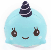 Anglin 9CM Soft Whale Cartoon Squishy Slow Rising Squeeze Toy Phone Straps Ballchains