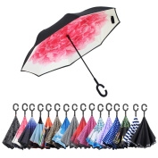 Aweoods Double Layer Inverted Umbrella Cars Reversible Umbrella