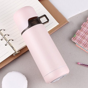 Vacuum cup creative stainless steel vacuum, men and women student cup, portable fresh cup,Pink