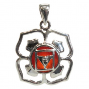 MEDAILLE Muladhara Chakra 925 Sterling Silver with Natural Carnelian