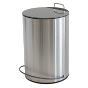 """MSV """"Unna"""" Stainless Steel Pedal Bin, Grey, 5 Litre"""
