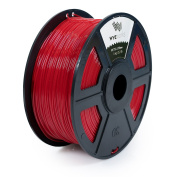 WYZworks PETG 1.75mm ( RED ) Premium 3D Printer Filament - Dimensional Accuracy +/- 0.05mm 1kg / 2.2lb + [ Multiple Colour Options Available ]